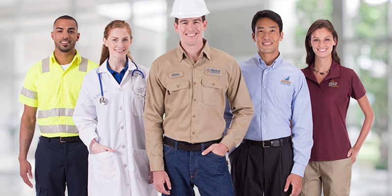 Our range of uniforms for catering, healthcare and security professionals