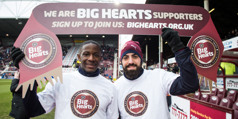 Hearts' Players Wear PPE T-Shirts at 'Big Hearts Day' Match
