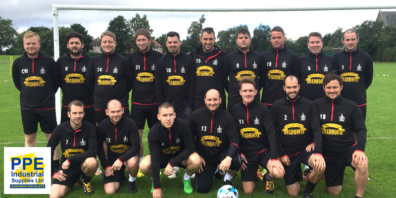 New sponsors and a new training kit for PPE clients Loanhead Parish Football Club
