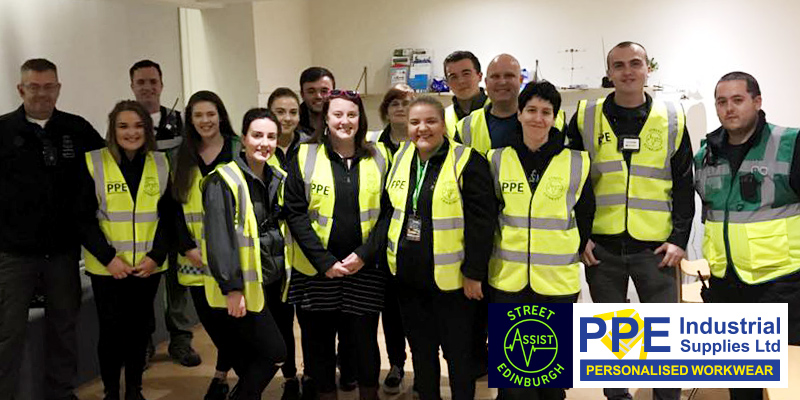 PPE Donates Hi-viz jackets to Street Assist Edinburgh