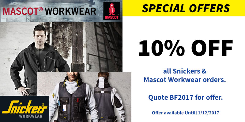 Check out our offers on workwear and safety clothing in our Black Friday discount sale!